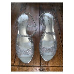 Kelly & Katie sparkly silver dress heels size 9